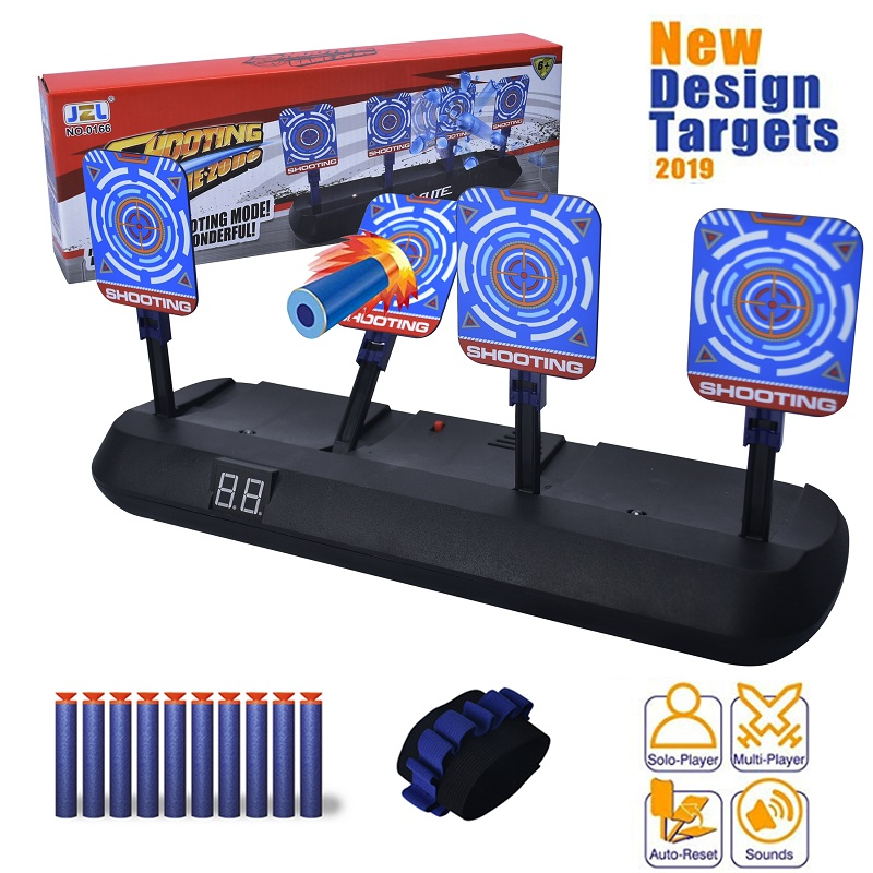 DIY High Precision Scoring Auto Reset Electric Target For Nerf Gun Accessories Toys For Outdoor Fun Sport Toy Parts