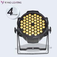 4 sztuk/partia profesjonalne 54x3W Dj Dmx Soundlight DMX-512 RGB 3w1 LED etap stopu aluminium PAR...
