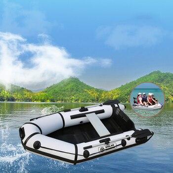 3 человека 2,3 м длина гребные лодки, ПВХ, надувная лодка с деревянным полом, скоростная лодка