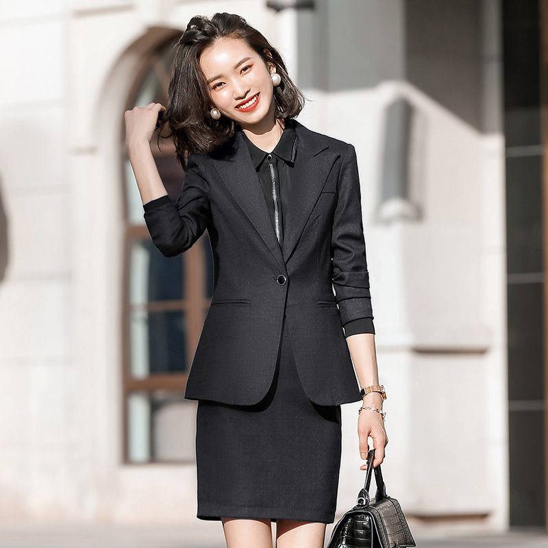 Women's Office Pants Suit Two-piece Suit High Quality 2020 New Ladies Blazer Elegant Skirt Job Interview Outfit Feminine 4XL