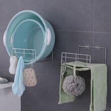 Органайзер самоклеящийся с крюком держатель для хранения Настенный пробойник ванная комната Большая емкость умывальник для кухни