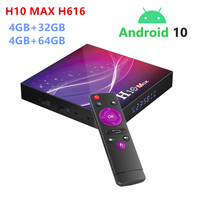 New H10 Max TV box Smart Media Player 4GB RAM 32GB/64GB ROM  Android 10.0 OS 2.4G WIFI 6K HDR 4K Set Top Box h616 TVbox IPTVBOX