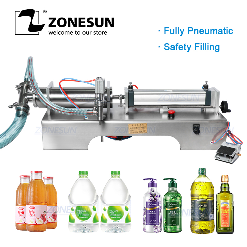 ZONESUN Fully Pneumatic Liquid Filling Machine Sprays Wine Drinks Perfume Bottle Dispenser Filler