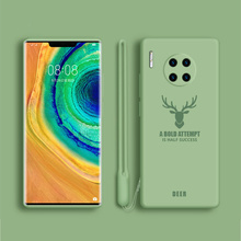 цена на Original Liquid Silicone Phone Case for Huawei Mate 30 Pro Soft-Touch Silky Protective Cover in Mate 30 Back Coque Fundas