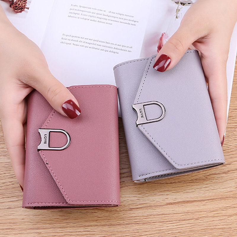 2019 New Women Wallets Small Factory Sale Retro Wallets Student Card Bag Short Cute Purse Ladies Money Clip NO Coin Pocket