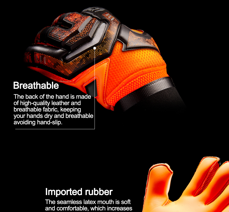 Professional Goalkeeper Gloves With Finger Protection 4