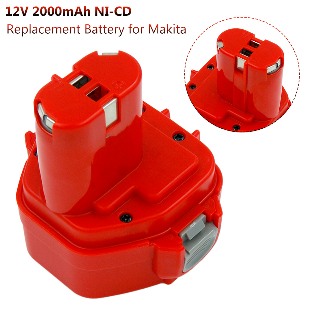 Replacement Battery For Makita 12V 2000mAh Ni CD Rechargeable Battery Power Tools Bateria PA12 1220 1222 1235 1233S 6217D