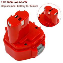 Replacement Battery For Makita 12V 2000mAh Ni CD Rechargeable Battery Power Tools Bateria PA12 1220 1222 1235 1233S 6271D