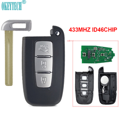 OkeyTech inteligentny zdalny kluczyk 433Mhz układ ID46 dla Hyundai I30 I45 Ix35 Genesis Equus Veloster Sonata Elantra Tucson Uncut Blade