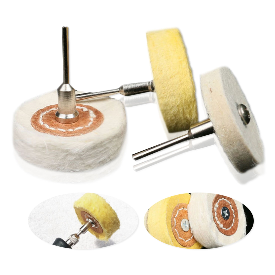 1PC Woodworking Grinder Brushes Polishing Buffing Wheel Grinding Head Dremel Accessories For Wood Abrasive Tools