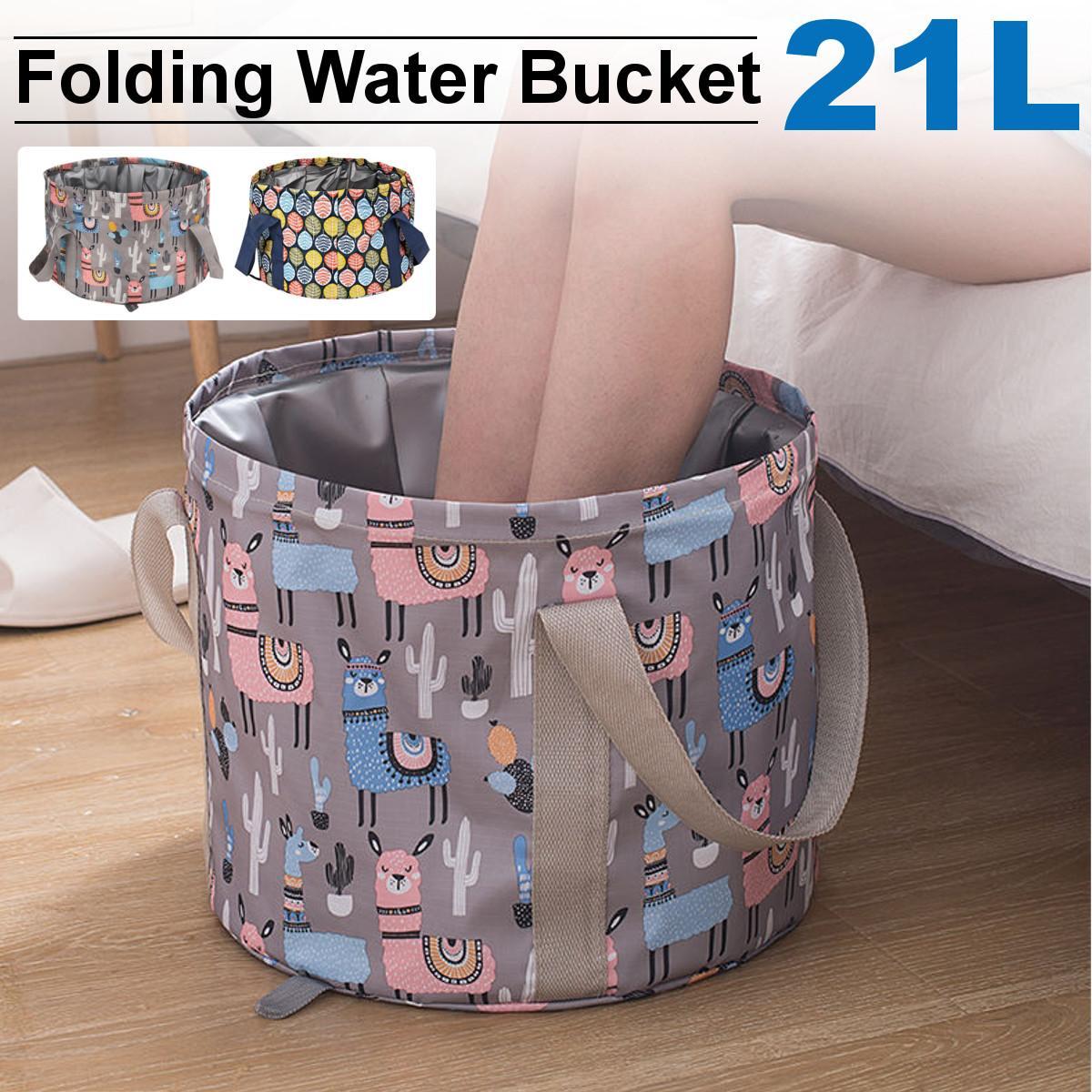 Bañera de pies plegable, bolsa de baño portátil, cubo de agua de lavabo de gran capacidad, bañera de masaje para pies, para viajes al aire libre