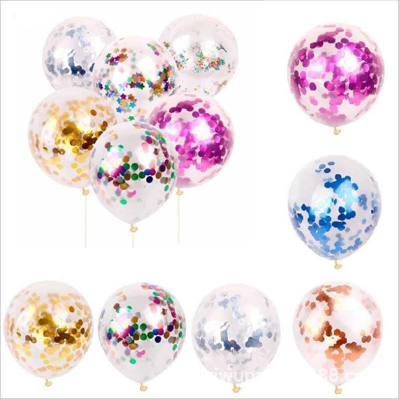 10 шт. 12 дюймов латексный шар Золотая Звезда конфетти из фольги прозрачные воздушные шары Дети день рождения партии поставки свадебное праздничное украшение