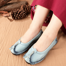 Designer Flats Women's Loafers Genuine-Leather Summer Shoes Female Precision-Stitching