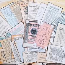32PCS Vintage Zeitung Große Größe Hintergrund Aufkleber DIY Scrapbooking Album junk journal Glücklich Planer Dekoration Aufkleber