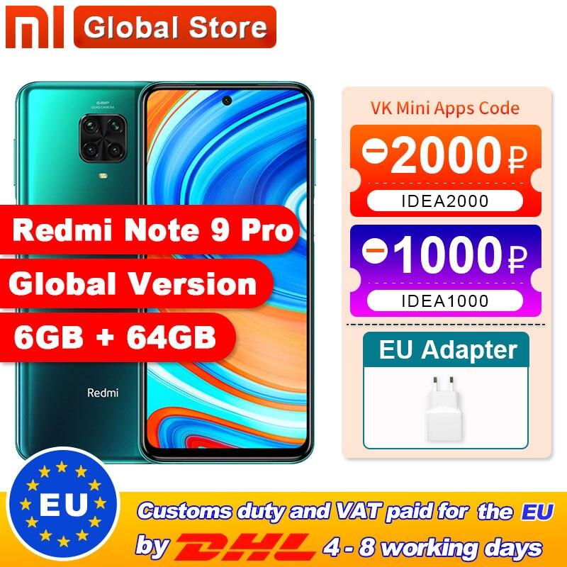 Global Version Redmi Note 9 Pro 6GB 64GB / 6GB 128GB NFC Smartphone Snapdragon 720G Octa Core 64MP Quad Camera(China)