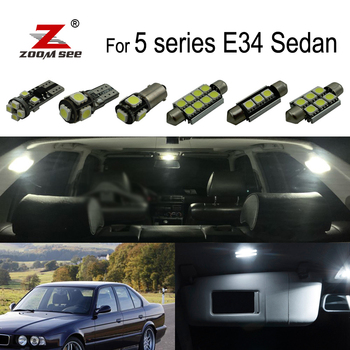 19x LED Interior dome mirror Lights bulb Kit for bmw 5 series E34 Saloon 518i 520i 524td 525ix 530i 535i 540i M5 1988-1995 image