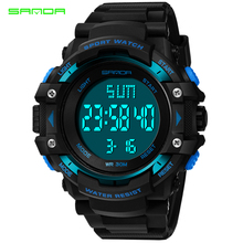 SANDA New S Shock Men Sports Watches Big Dial Sport Watches For Men Luxury Brand LED Digital Military Waterproof Wrist Watches izod men s big