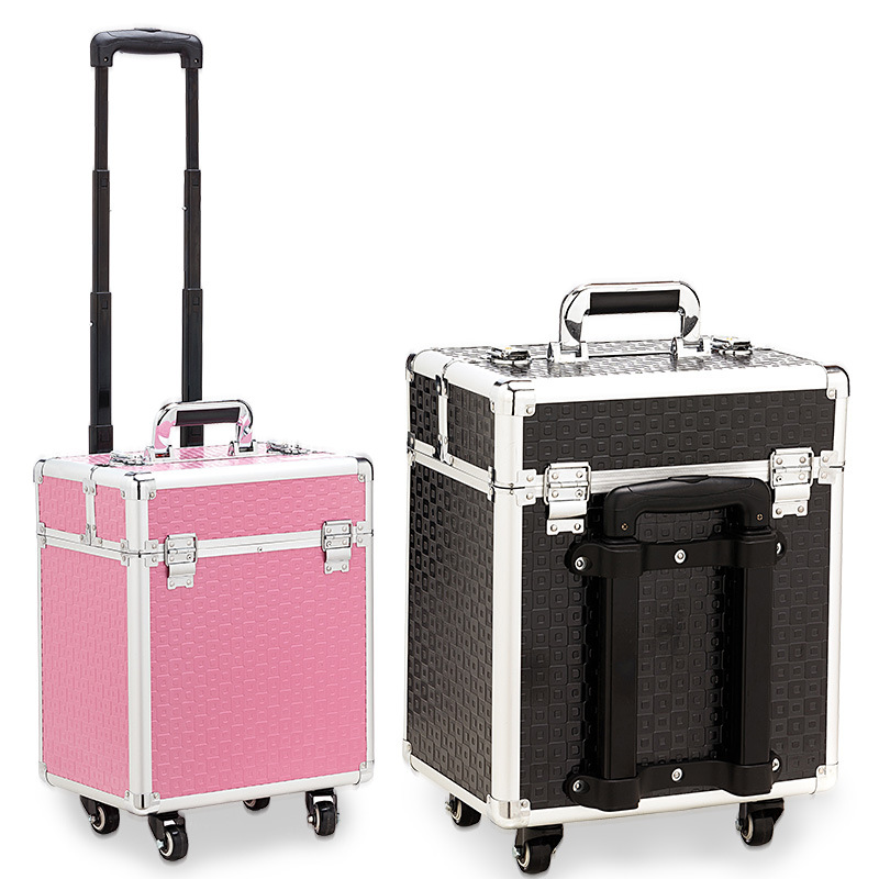 Professional Makeup Box Suitcases And Travel Bags Cosmetology And Hairdressing Nails Cosmetics Case High-capacity Luggage Bags