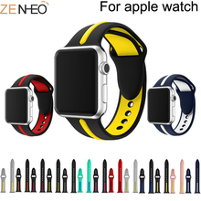 Band for Apple Watch 5 4 40MM 44MM soft Silicone Sports 38MM 42MM Bands Rubber Strap for Iwatch series 3 2 1 38MM 42MM camouflage soft silicone band for apple watch series 3 2 replaceable bracelet strap with adapter for iwatch 42mm 38mm bands