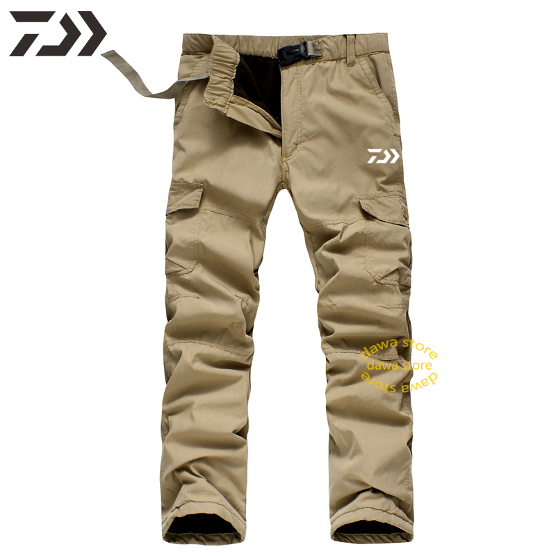 Daiwa Pants Men Winter Down Pants Men Warm Outdoor Trouser Multi-pocket Fishing Pants Men Casual Sweatpants Hiking Pants Sports