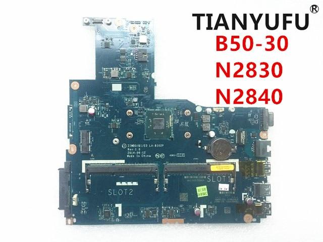 Placa base ZIWB0/B1/E0 LA B102P para ordenador portátil placa base para Lenovo B50 30 N2830 N2840 CPU (sin conector de huella dactilar) probada