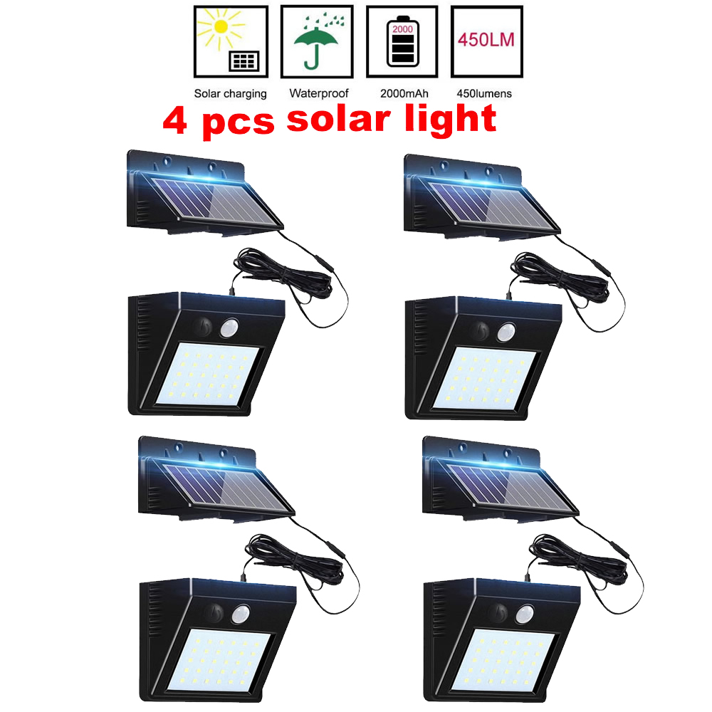 2/4pcs 100/56/30 LED Solar Lamp Charged Solar Energy Light Powered Emergency Bulb For Outdoor Garden Camping Tent Fishing Split