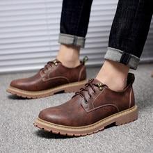 New Fashion Italian Men Shoes Luxury Classic Men Leather Shoes Men Oxfords Designer Waterproof Short Outdoor Footwear