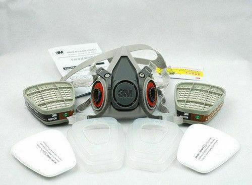 3M 6200 7502 Respirator Painting Spraying Gas Mask Cotton Filter/Cartridge 5N11 Filter 501 Container 6001CN Catridge