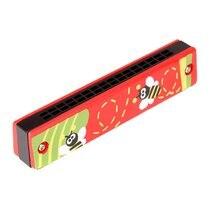 Красочная Губная гармошка, 16 отверстий, тремоло, губная гармошка, детский музыкальный инструмент, обучающая игрушка, подарок для детей, Прямая поставка