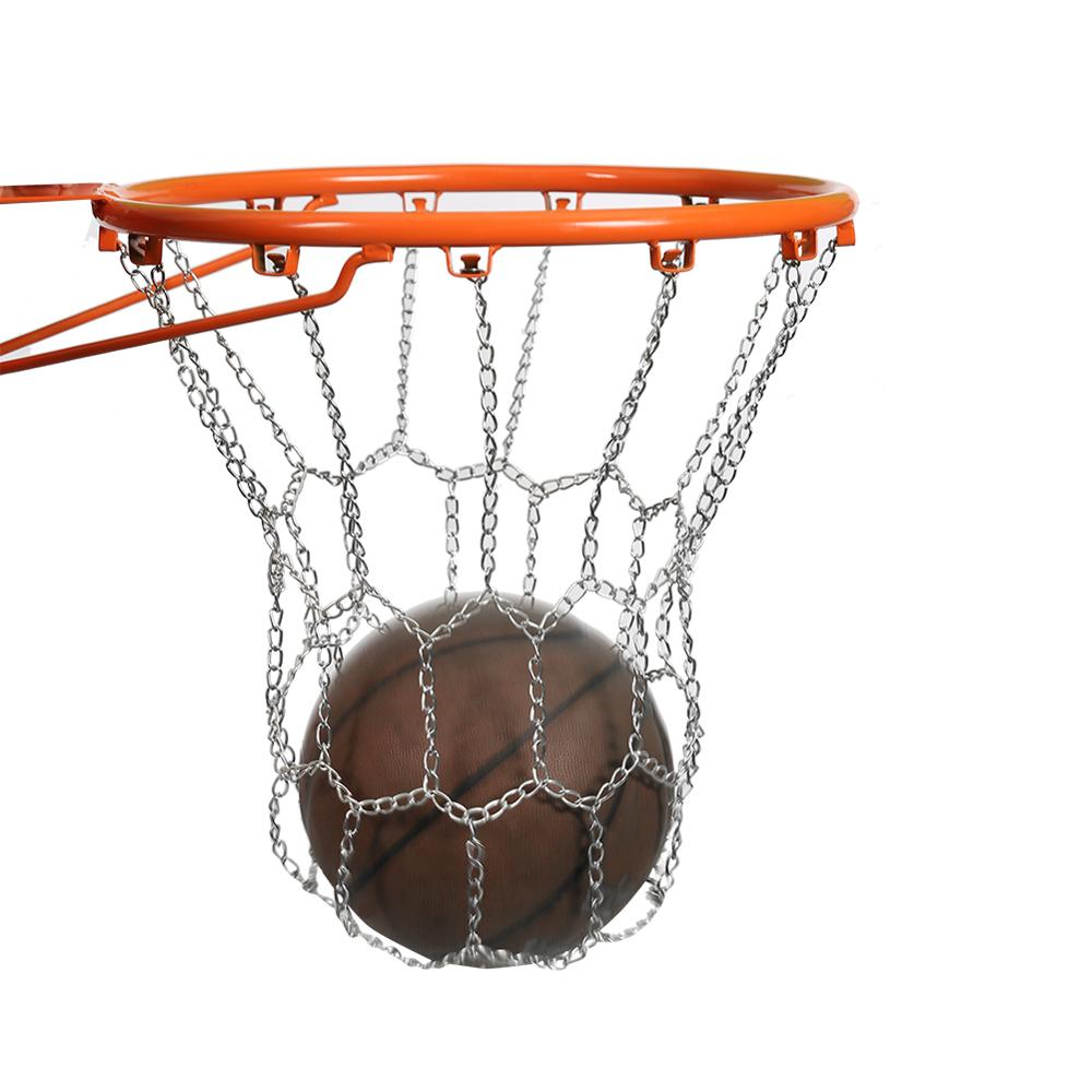 High Quality Sports Basketball Hoop Metal Net Durable Outdoor Backboard Goal Rim Chain Mesh For Universal Backboard Rim Ball