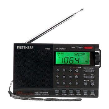 RETEKESS TR608 Radio Aviation Band FM MW SW Air Band Receiver Radio Aerial Band Receiver Backlit Display Alarm Clock Airport цена 2017
