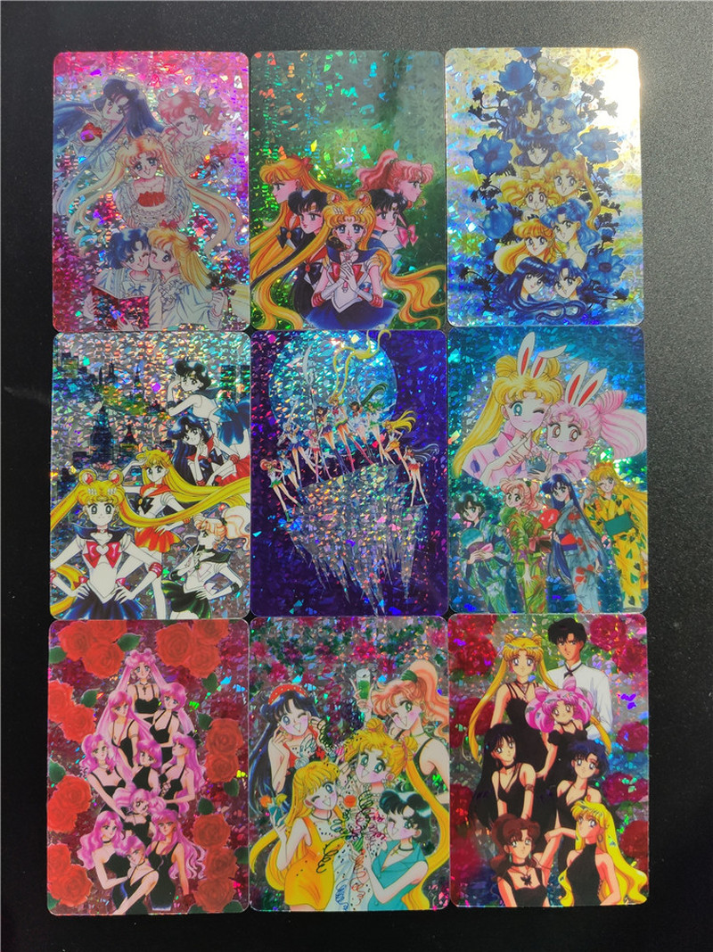 9pcs/set Sailor Moon Team Pasteable Sexy Beauty Hobby Collectibles Game Collection Anime Cards Limit Sexy Girl Free Shipping