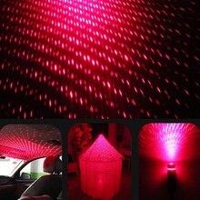 Автомобильный USB светодиодный атмосферный светильник в виде звезды, красочный светильник, Рождественский декоративный светильник