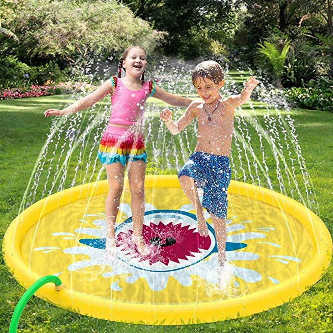Summer Outdoor Children's Water Spray Pad Inflatable Watering Mat Lawn Games Sprinkler Play Toys Out Parent-child Water Games