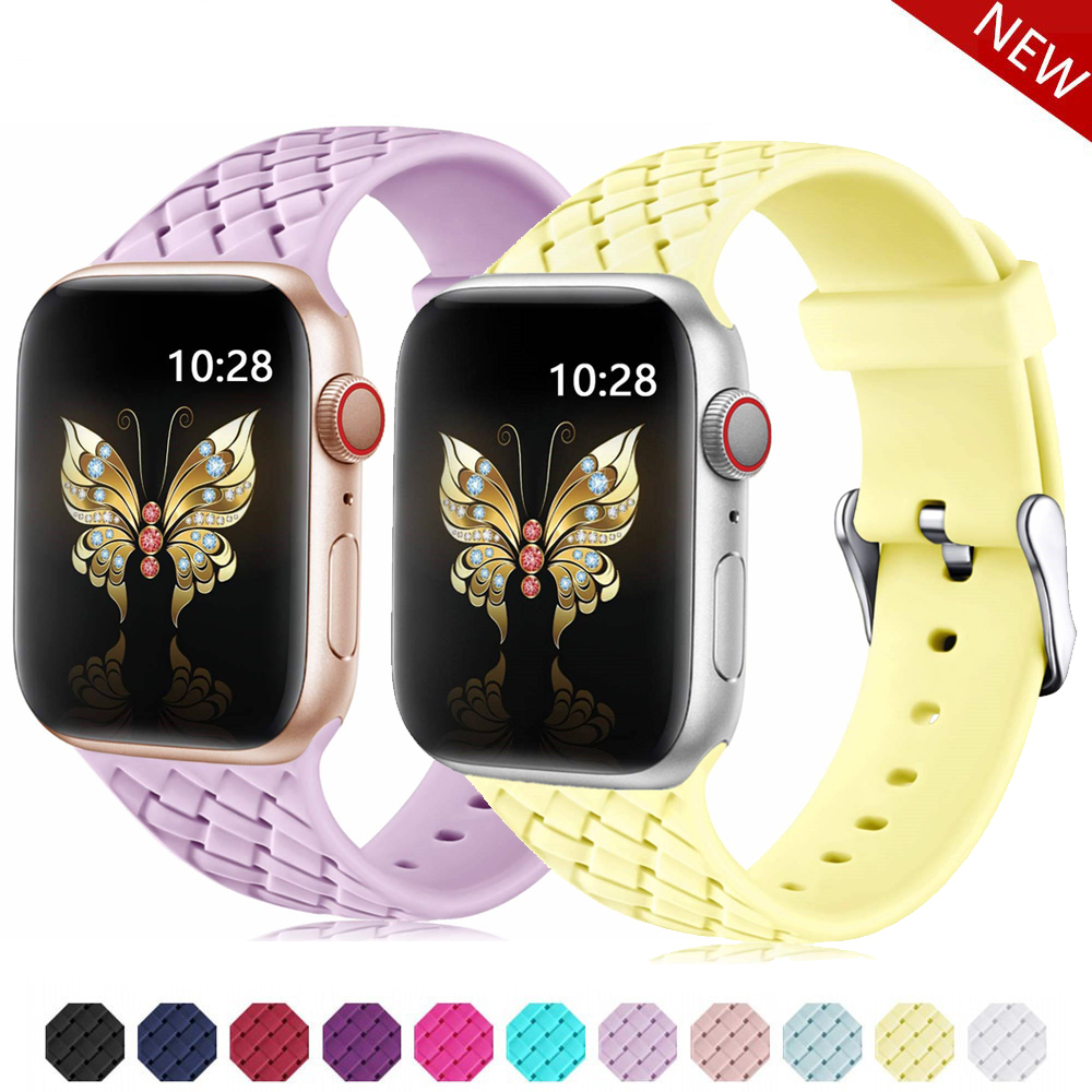 Strap For <font><b>Apple</b></font> <font><b>Watch</b></font> 5 4 band 38mm <font><b>42mm</b></font> iWatch 4 band 44mm 40mm Silicone belt Bracelet <font><b>correa</b></font> <font><b>Apple</b></font> <font><b>watch</b></font> 5 4 <font><b>3</b></font> 2 Accessories image