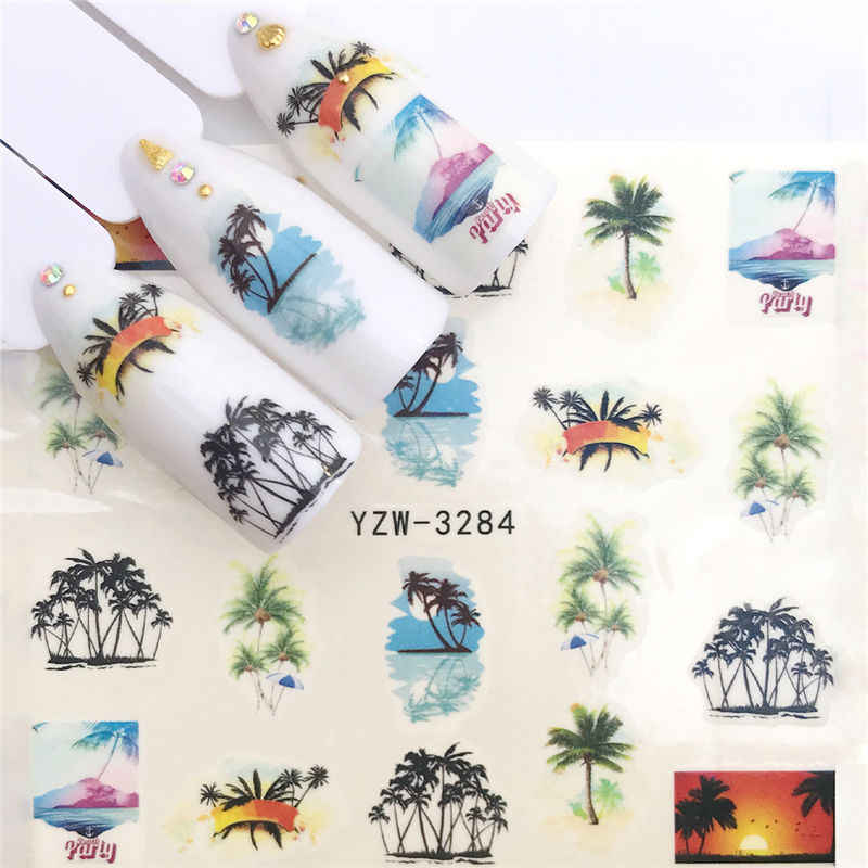 1 Pc Hot Nail Sticker Zwarte Vlinder Note Schoonheid Water Transfer Stempelen Nail Art Tips Nail Decor Manicure Decal