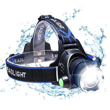 T6XM-L2 LED Headlamp Zoomable camping light waterproof Fishing Headlight Flashlight 18650 DC/Car/Usb/ charging Bicycle Light