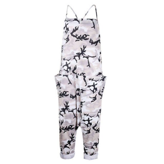 Summer Women Sexy Jumpsuits Camouflage Print Spaghetti Strap V Neck Casual Sleeveless Military Streetwear Rompers 6