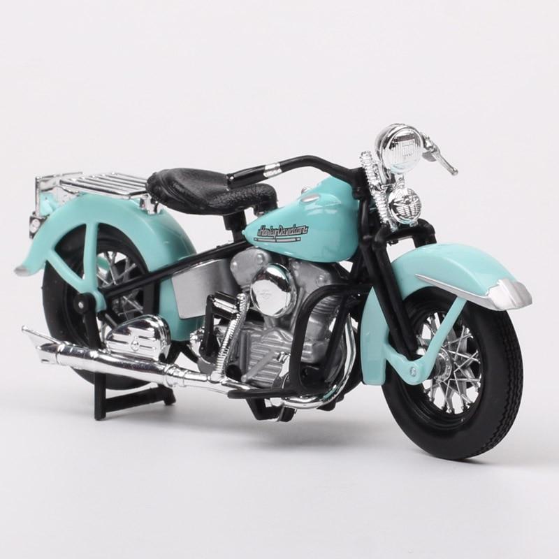 1/18 Scale Classic Vintage Maisto Adventure Wheels 1946 HD FL Knucklehead SOA Bike Diecast Vehicle Motorcycle Toy Replicas Kids