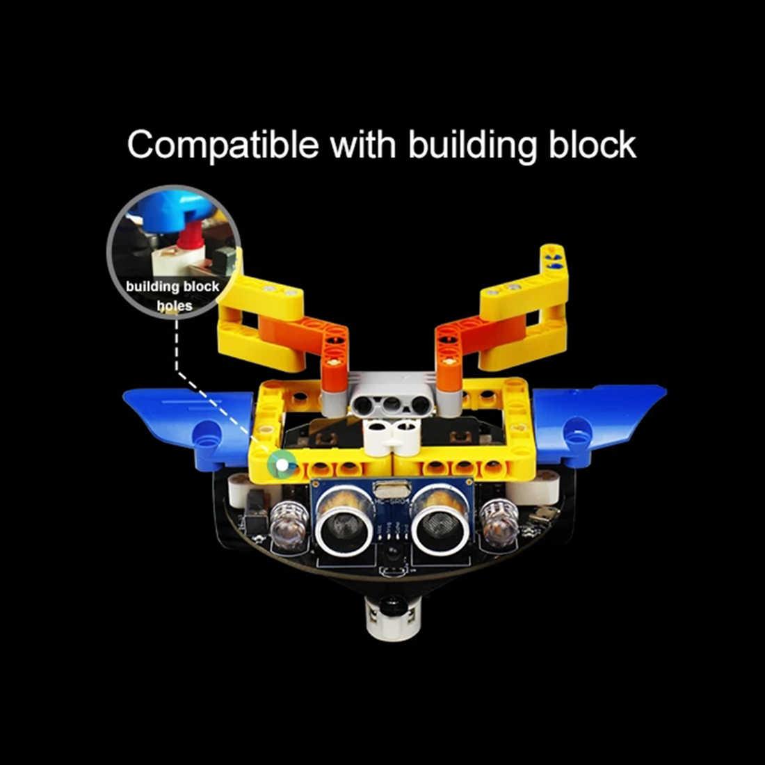 DIY избегание препятствий умный программируемый робот автомобиль обучающий комплект с/без материнской платы для микро: бит детская игрушка подарок