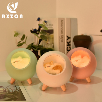 2020 Creative Cute Cat House Touch Dimming LED Night Light For Kid Baby Bedroom Study Bedside Decoration Gift Table Lamp night light bedroom bedside table desk cute lamp remote decoration dimming dream romantic warm sleep decoration creative gift