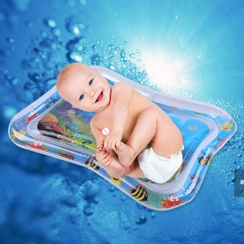 Baby Inflatable Water Play Mat Tummy Time Playmat Fun Activity Pool Cushion Summer Cold Infants Water Mat Dropshipping