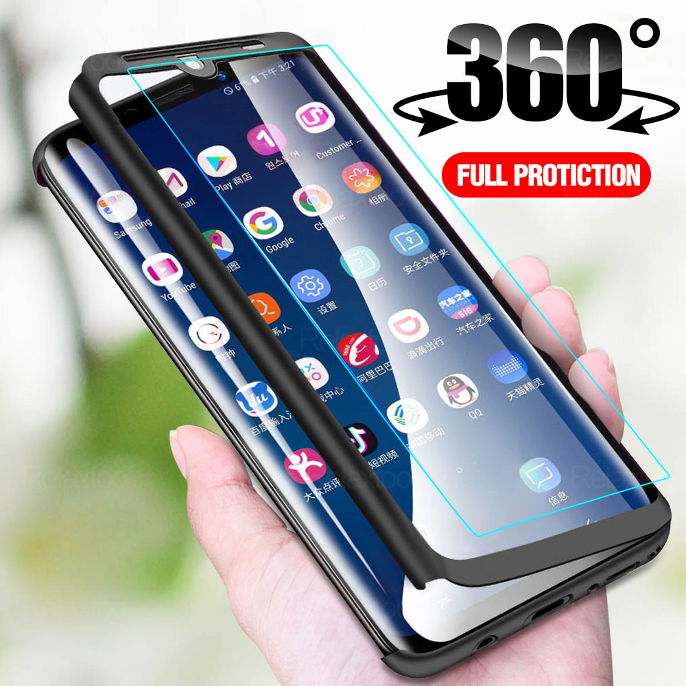 360 Full Protection Cover <font><b>Case</b></font> For <font><b>OPPO</b></font> <font><b>A5</b></font> A9 <font><b>2020</b></font> A11X A11 Shockproof <font><b>Case</b></font> for <font><b>oppo</b></font> <font><b>a5</b></font> a9 a11x a11 a 5 9 11 x <font><b>Cases</b></font> With glass image