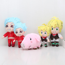 цена на The Seven Deadly Sins Nanatsu No Taizai Fox's Sin Of Greed Ban Meliodas Hawk pig Plush Toys plush stuffed