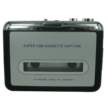 cassette player USB Cassette to MP3 Converter Capture Audio Music Player Convert music on tape to Computer Laptop Mac OS CREZ218