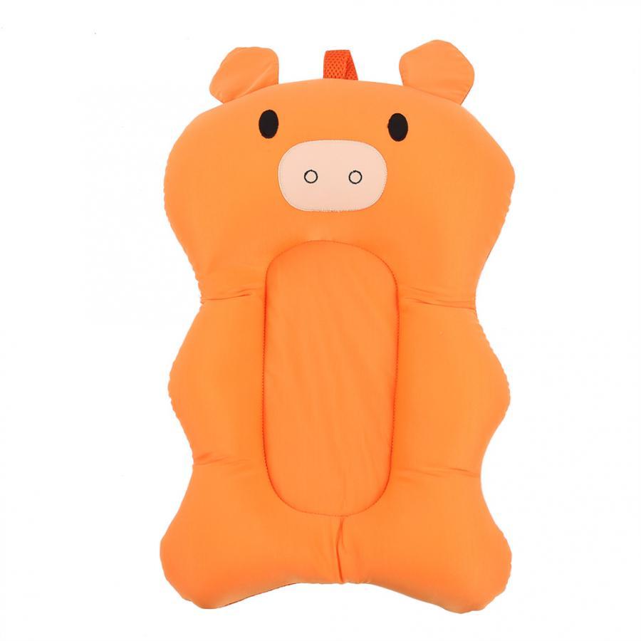 Мягкая подушка для ванны для новорожденного ребенка, плавающая Подушка с воздушной подушкой, подушка для купания малыша, подушка для душа, пищевая пена - Цвет: Orange Bath Seat