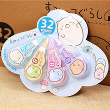 4 pcs/set Cute Kawaii Animal Correction Tape Novelty Schoo Office White Out Corrector Student Kids Gifts Stationery Supplies