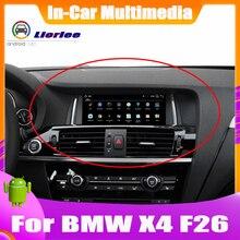 Jogador de navegação gps do carro para bmw x4 f26 2014 ~ 2016 estéreo áudio hd tela toque tudo em um