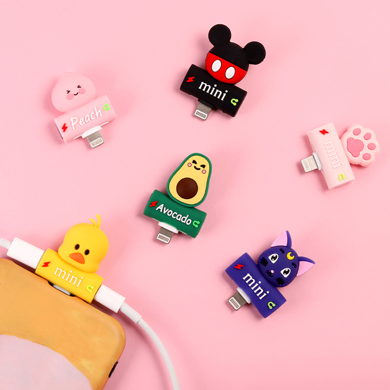 Cute Peach Audio Adapter <font><b>For</b></font> <font><b>iPhone</b></font> XS Max <font><b>Connector</b></font> Splitter <font><b>Headphone</b></font> Charger Adapter <font><b>For</b></font> Light Jack to Earphone AUX Cable image