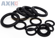 AXK 1000pcs 1mm Thickness Black Nitrile Rubber O Ring Seals 4/5/6/7/8/9/10/11/12/13/14 OD NBR Rings Sealing Gasket Washer